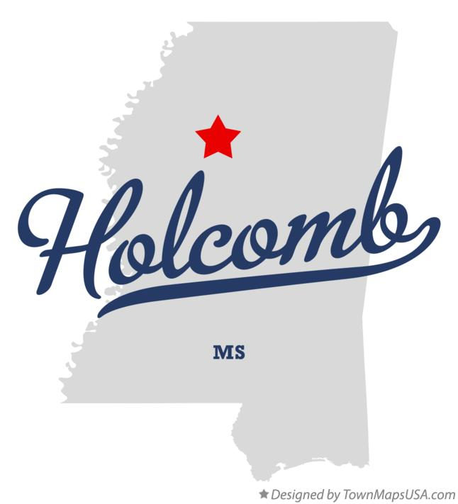 Map of Holcomb Mississippi MS