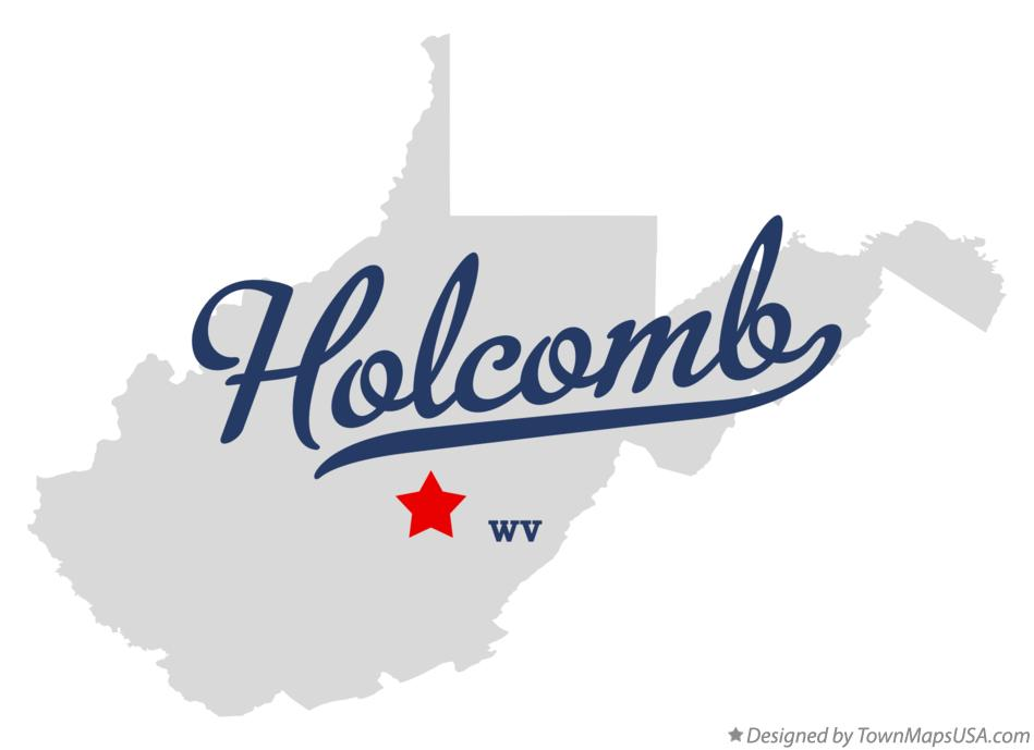Map of Holcomb West Virginia WV