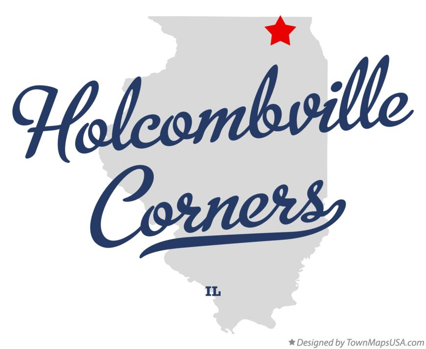 Map of Holcombville Corners Illinois IL