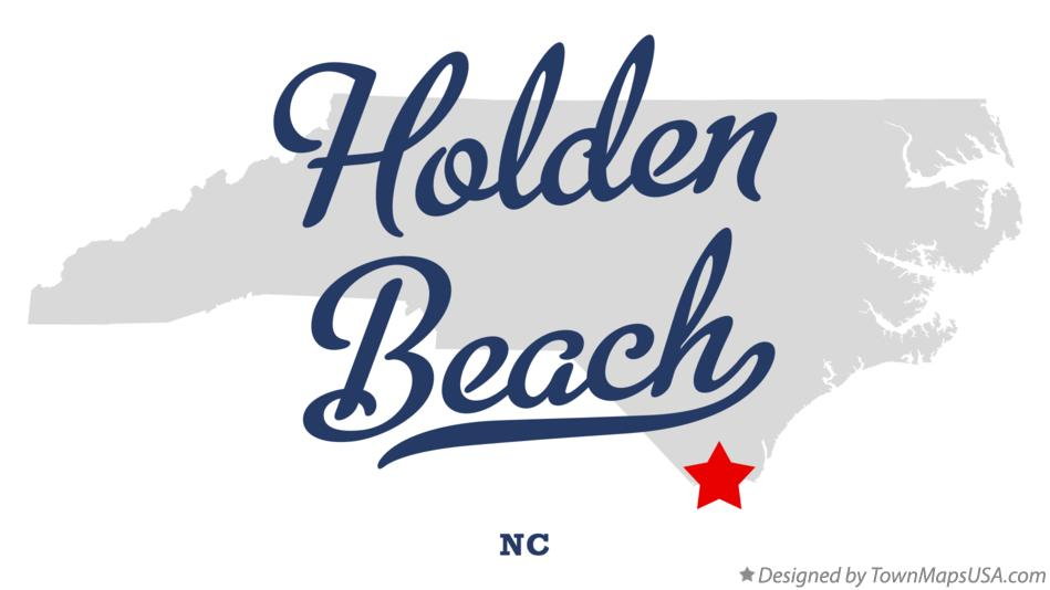 Map of Holden Beach North Carolina NC