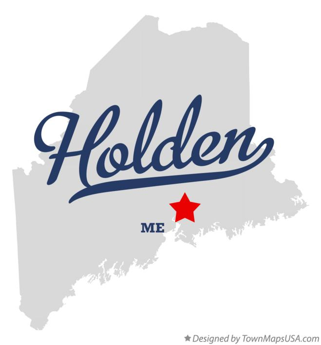 Map of Holden Maine ME