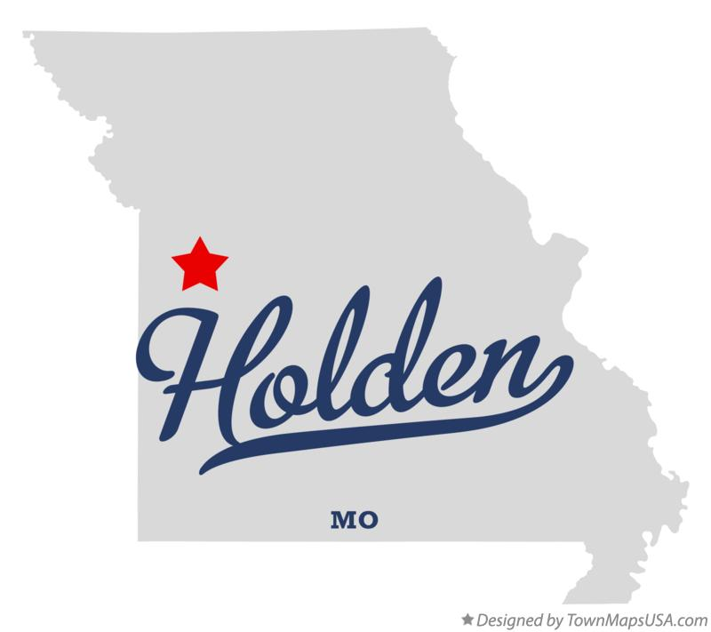 Map of Holden Missouri MO