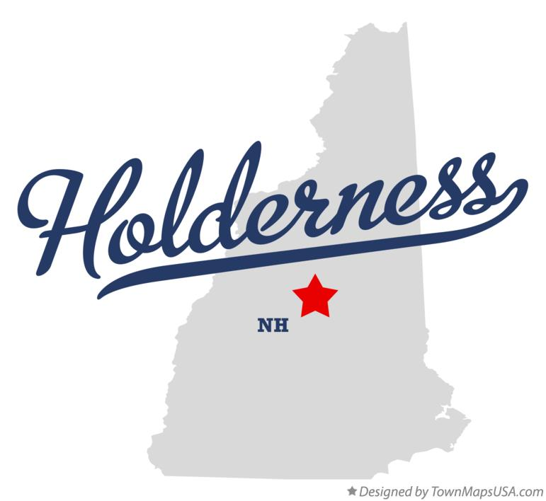 Map of Holderness New Hampshire NH