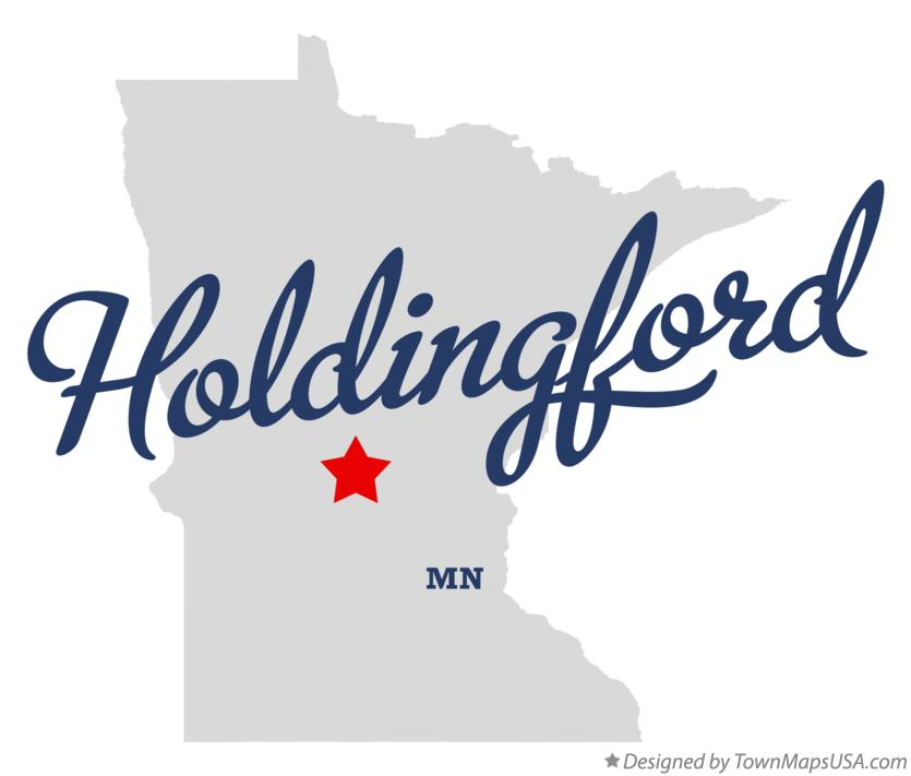 Map of Holdingford Minnesota MN
