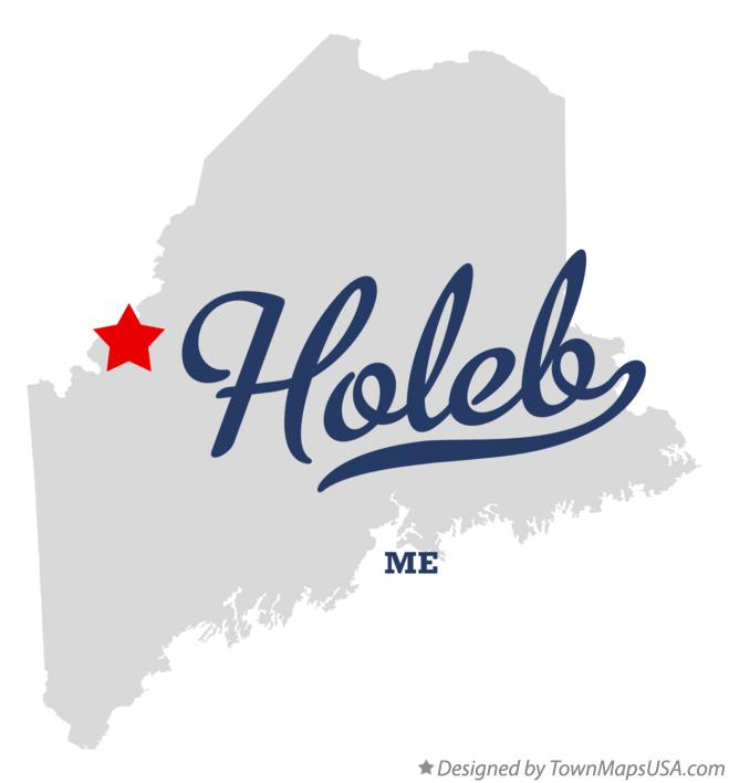Map of Holeb Maine ME