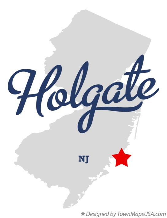 Map of Holgate New Jersey NJ