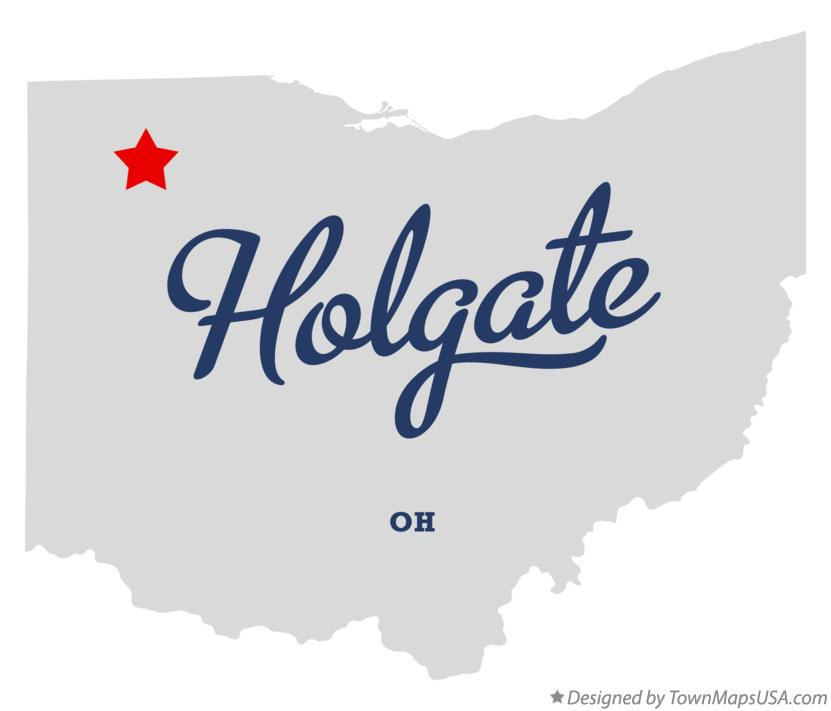 Map of Holgate Ohio OH