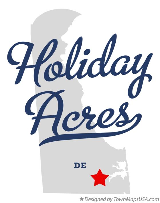 Map of Holiday Acres Delaware DE