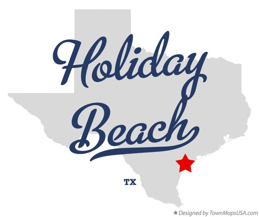 Map of Holiday Beach Texas TX