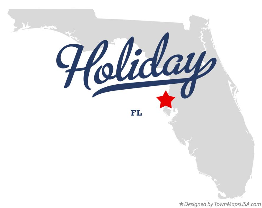 Holiday Florida Map.Map Of Holiday Fl Florida