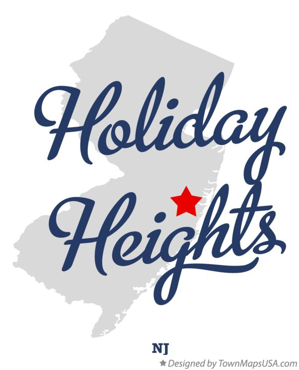 Map of Holiday Heights New Jersey NJ