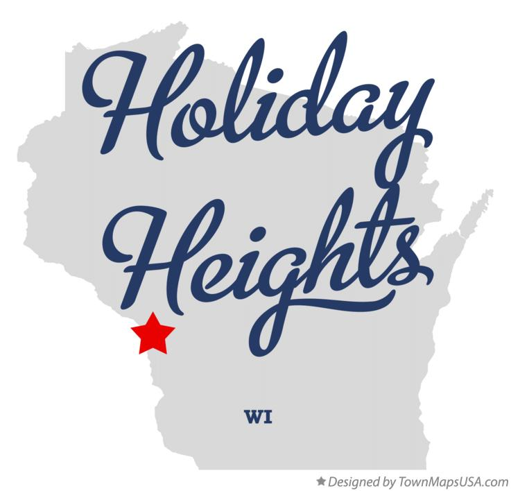 Map of Holiday Heights Wisconsin WI