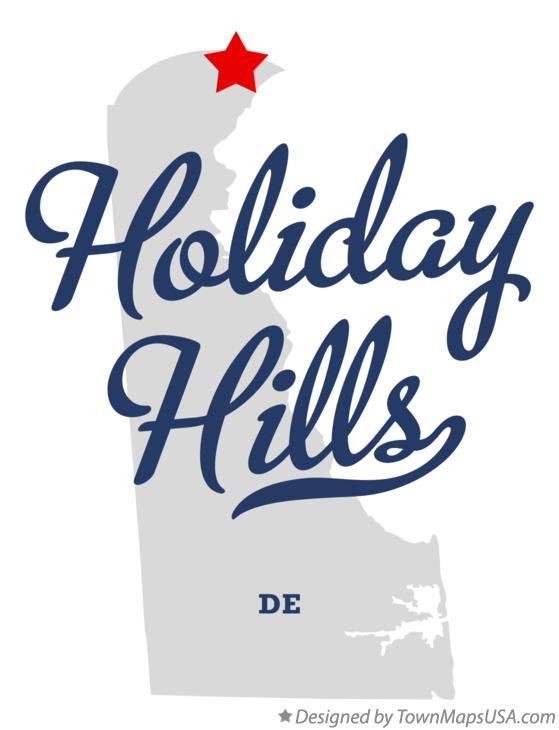 Map of Holiday Hills Delaware DE
