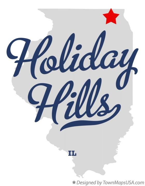 Map of Holiday Hills Illinois IL