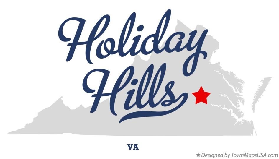 Map of Holiday Hills Virginia VA
