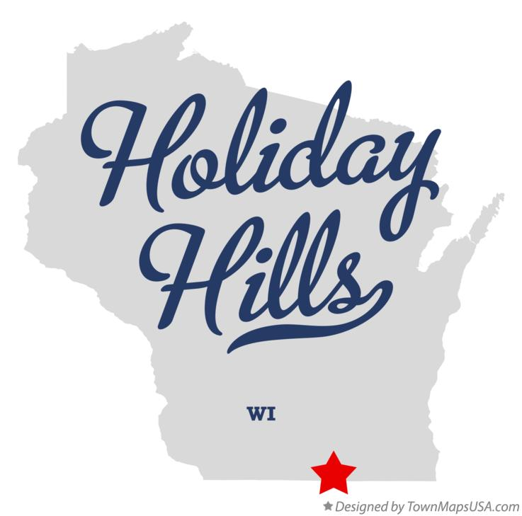 Map of Holiday Hills Wisconsin WI
