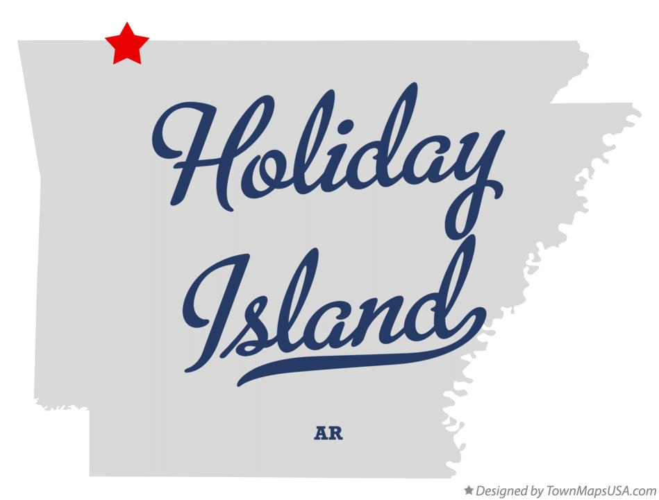 Map of Holiday Island Arkansas AR