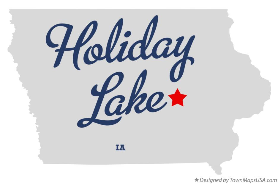 Map of Holiday Lake Iowa IA
