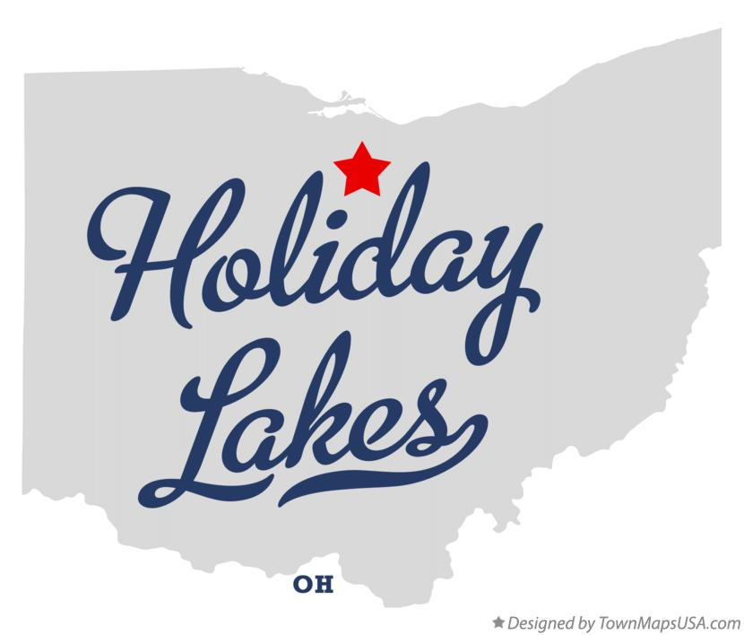 Map of Holiday Lakes Ohio OH