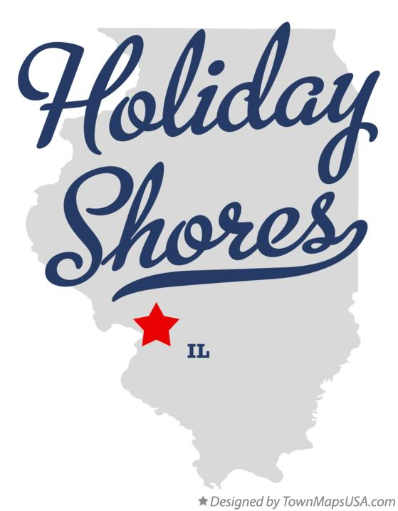 Map of Holiday Shores Illinois IL