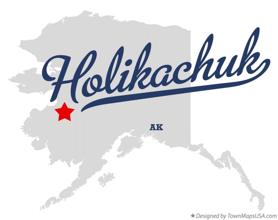 Map of Holikachuk Alaska AK