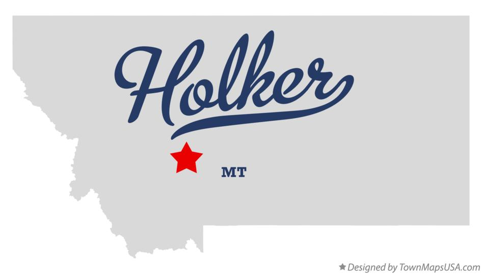 Map of Holker Montana MT