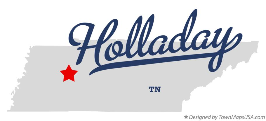 Map of Holladay Tennessee TN
