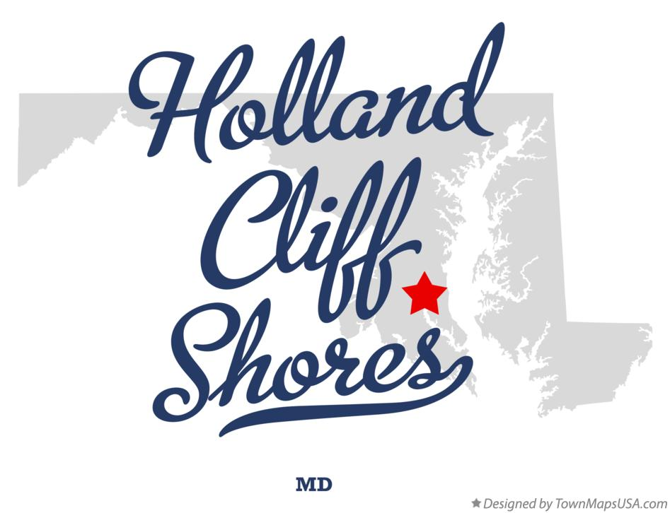 Map of Holland Cliff Shores Maryland MD
