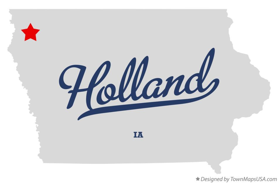 Map of Holland Iowa IA