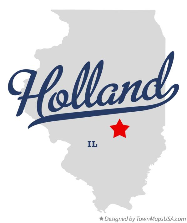 Map of Holland Illinois IL