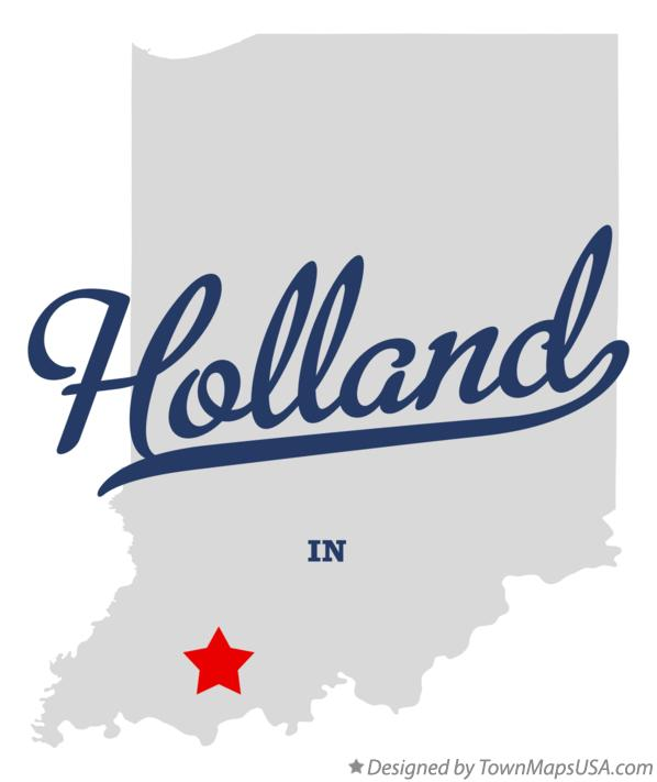 Map of Holland Indiana IN