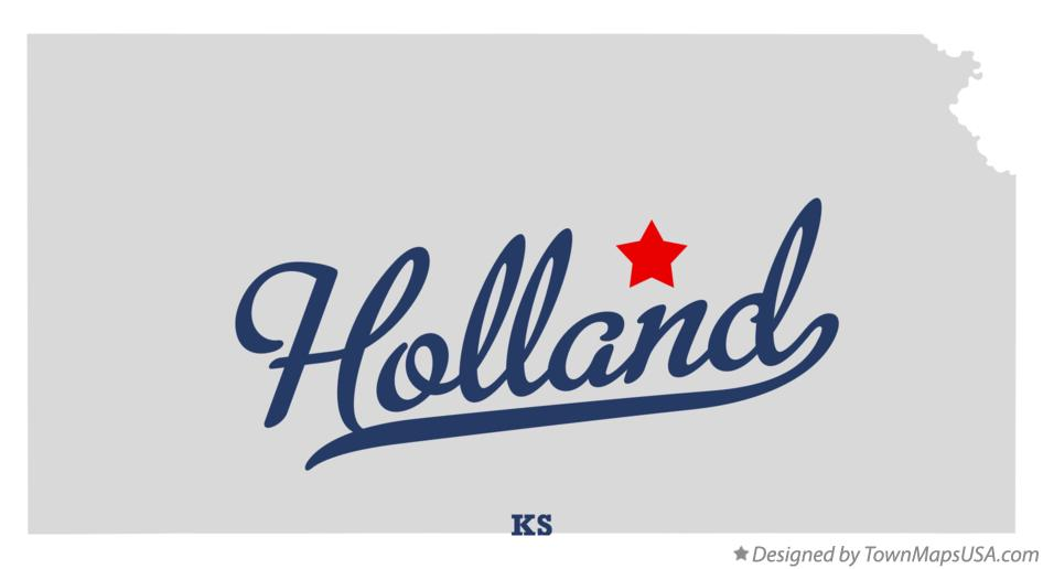 Map of Holland Kansas KS