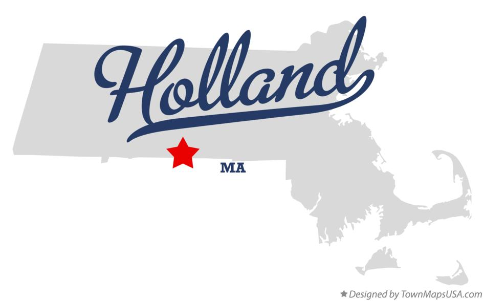 Map of Holland Massachusetts MA
