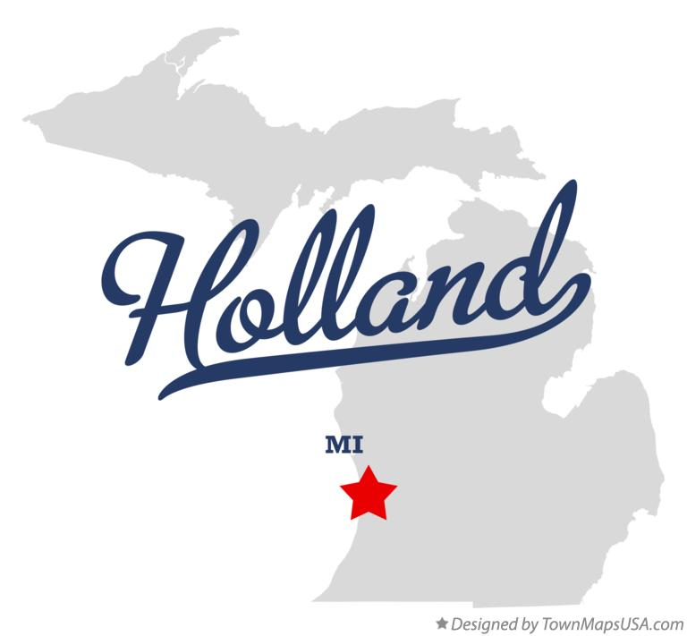 Map of Holland Michigan MI