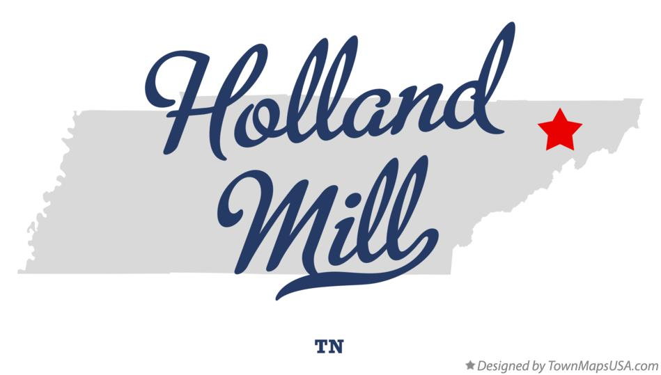 Map of Holland Mill Tennessee TN