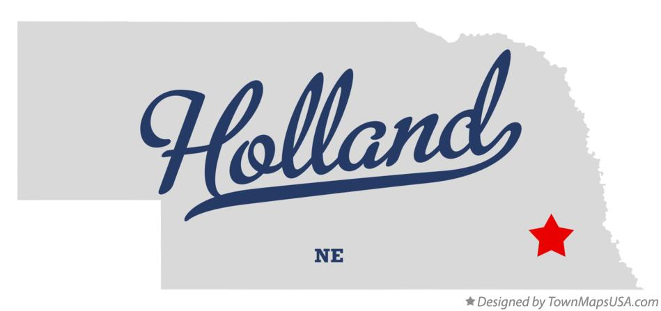 Map of Holland Nebraska NE