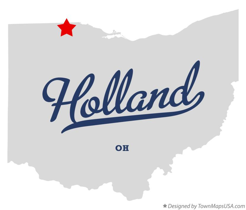 Map of Holland Ohio OH