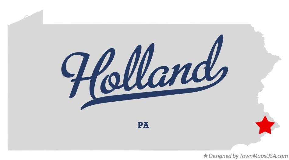 Map of Holland Pennsylvania PA