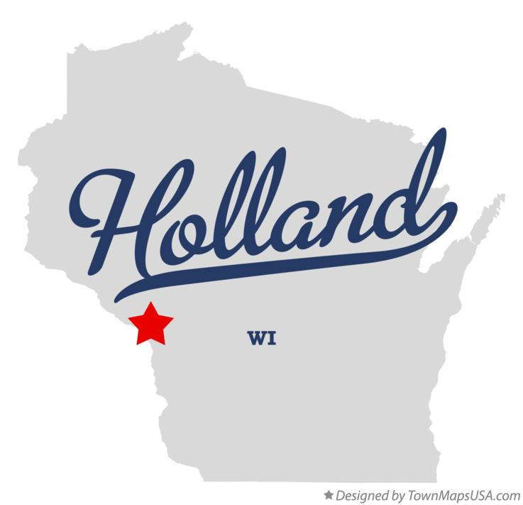 Map of Holland Wisconsin WI