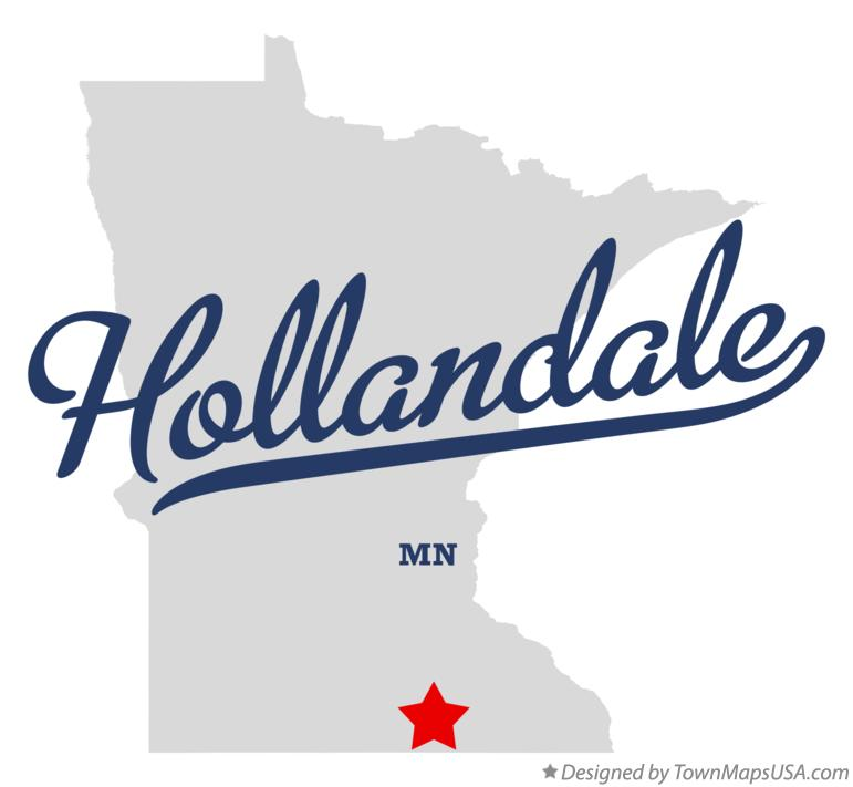 Map of Hollandale Minnesota MN