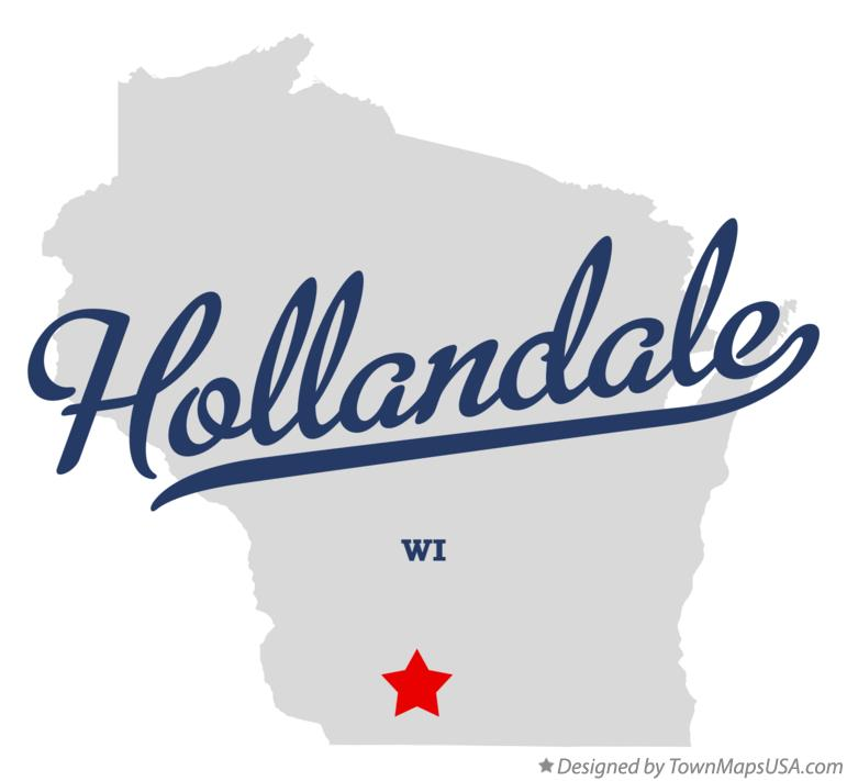 Map of Hollandale Wisconsin WI