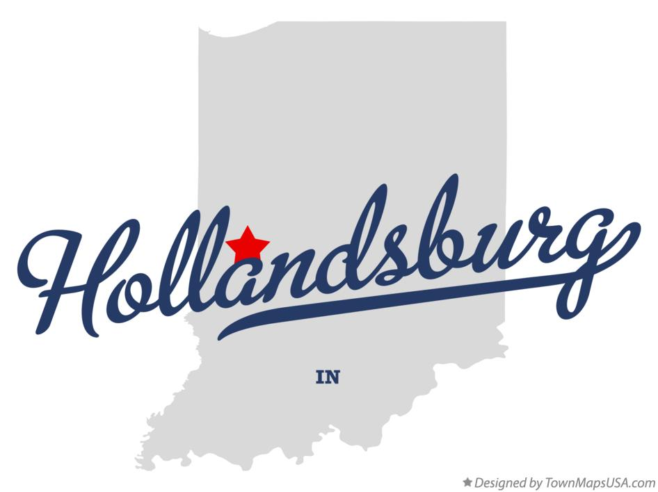 Map of Hollandsburg Indiana IN