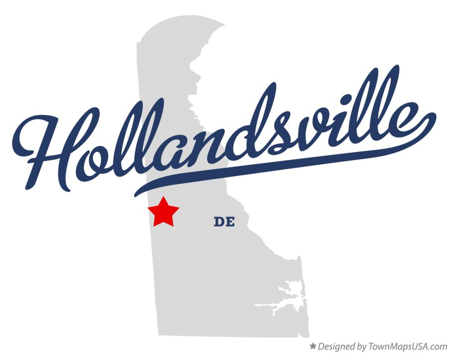 Map of Hollandsville Delaware DE
