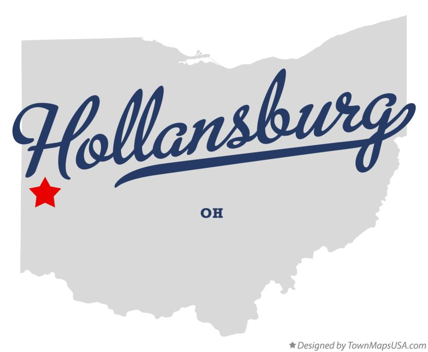 Map of Hollansburg Ohio OH