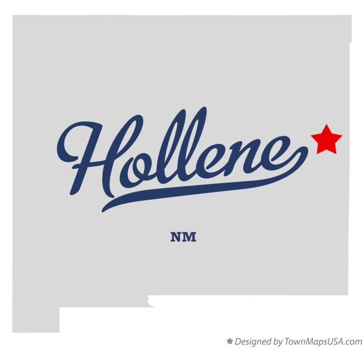Map of Hollene New Mexico NM