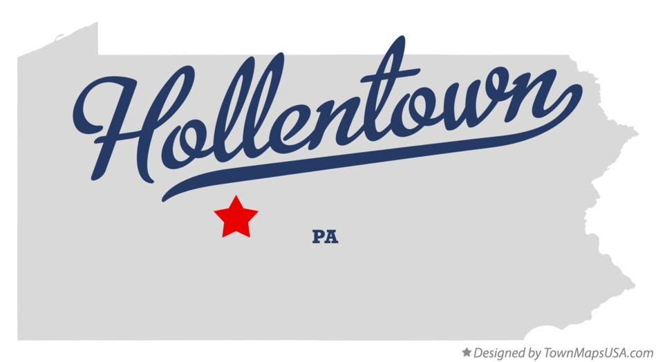 Map of Hollentown Pennsylvania PA