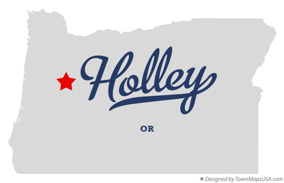 Map of Holley Oregon OR