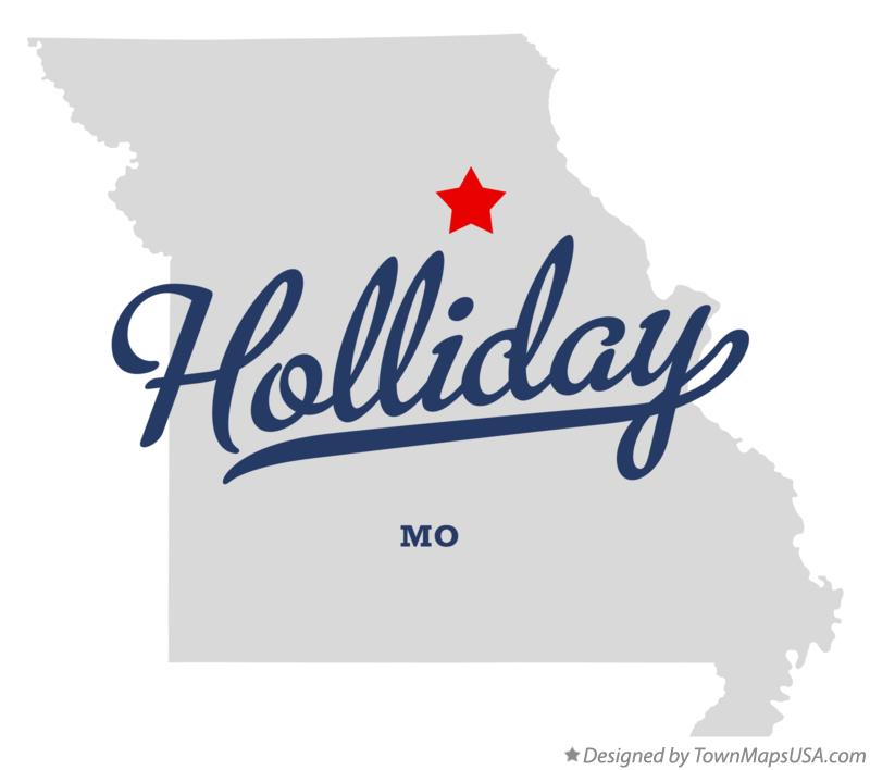 Map of Holliday Missouri MO