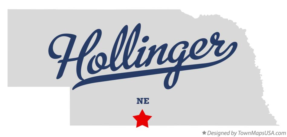 Map of Hollinger Nebraska NE