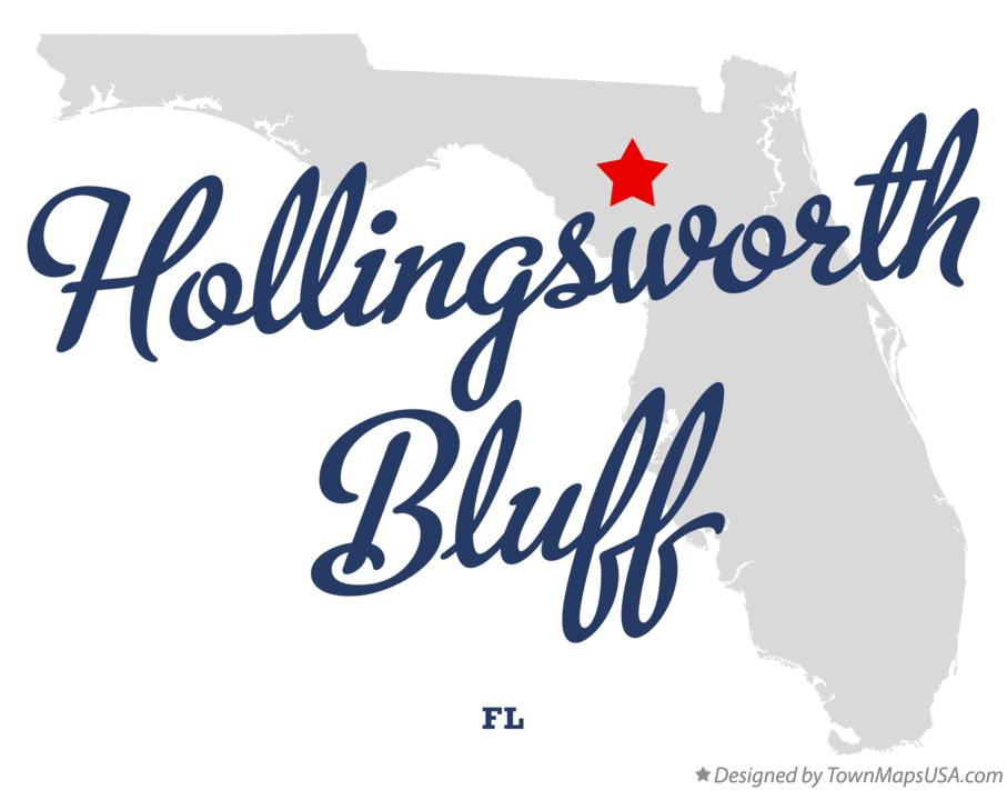Map of Hollingsworth Bluff Florida FL